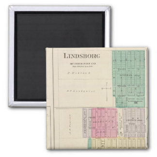 Lindsborg, King City, Roxbury, Kansas 2 Inch Square Magnet
