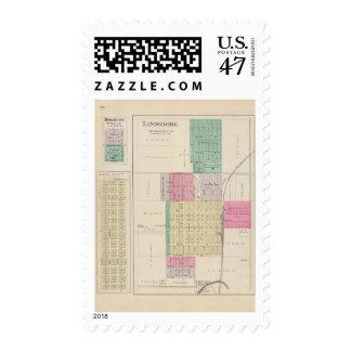 Lindsborg, King City, Roxbury, Kansas Postage