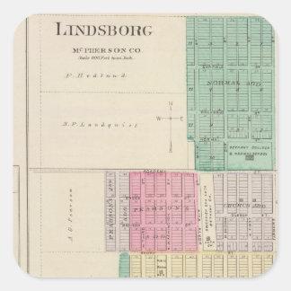 Lindsborg, King City, Roxbury, Kansas Square Sticker