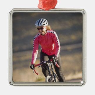Lindsey Bishop road biking, Boulder, Colorado. Metal Ornament
