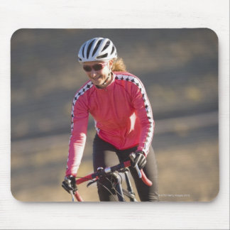 Lindsey Bishop road biking, Boulder, Colorado. Mouse Pad
