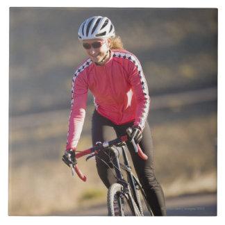 Lindsey Bishop road biking, Boulder, Colorado. Tile