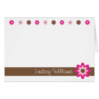 Lindsey - Brown and Pink Greeting Cards