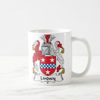 Lindsey Family Crest Classic White Coffee Mug