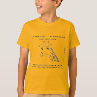 Lindsey Giraffe on Climate Change T-Shirt