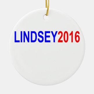 Lindsey Graham 2016 Tee Shirt ''.png Ceramic Ornament