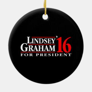 Lindsey Graham for President Ceramic Ornament