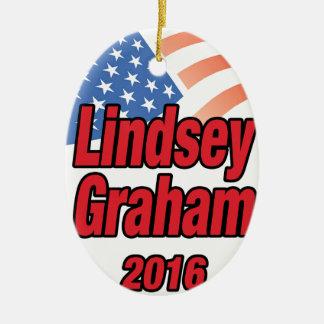 Lindsey Graham for president in 2016 Ceramic Ornament