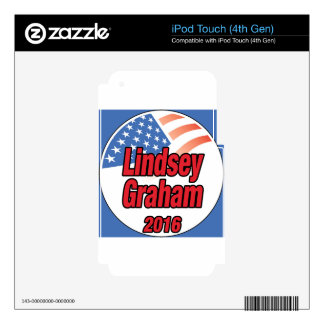 Lindsey Graham for president in 2016 iPod Touch 4G Skin