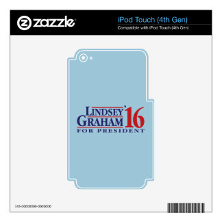 Lindsey Graham for President iPod Touch 4G Decal