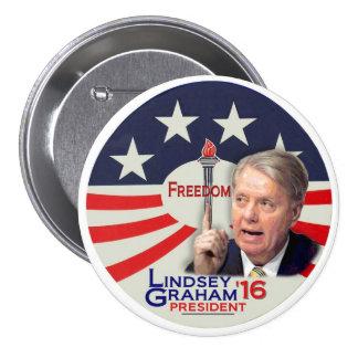 Lindsey Graham para el presidente 2016 Pin Redondo De 3 Pulgadas