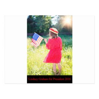 Lindsey Graham para el presidente 2016 Tarjeta Postal