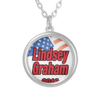 Lindsey Graham para el presidente en 2016 Collar Plateado