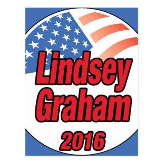 Lindsey Graham para el presidente en 2016 Tarjeta Postal