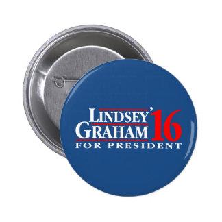 Lindsey Graham para el presidente Pin Redondo 5 Cm