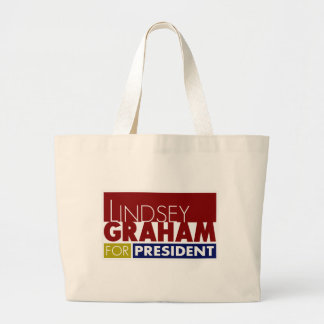 Lindsey Graham para presidente V1 Bolsa Tela Grande