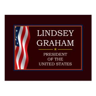 Lindsey Graham para presidente V3 Tarjeta Postal