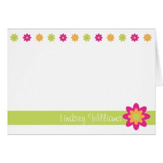 Lindsey - Lime, Pink and Orange Greeting Card