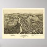 Lindsey, PA Panoramic Map - 1895 Poster