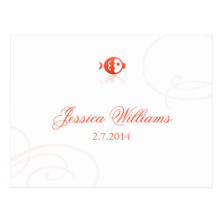 Lindsey's Place Cards - Fish Postcards