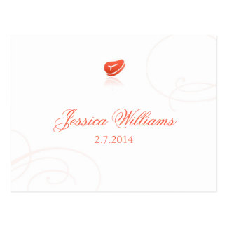 Lindsey's Place Cards - Meat Post Cards