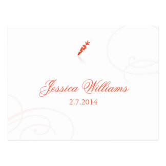 Lindsey's Place Cards - Vegetarian Postcard
