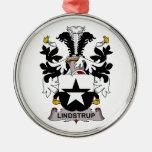 Lindstrup Family Crest Christmas Tree Ornament