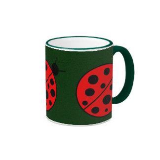 Lindsy Ladybug Ringer Mug