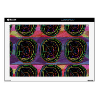 """Line Art Circles Round Spark Abstract Elegant Gift 17"""" Laptop Decal"""