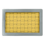 Line Art - CUPS - Black on Yellow Rectangular Belt Buckles