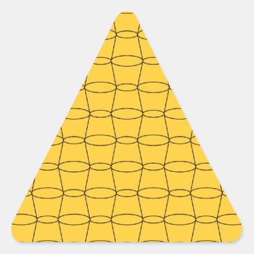 Line Art - CUPS - Black on Yellow Triangle Sticker