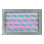 Line Art in Pink and Teal Belt Buckle