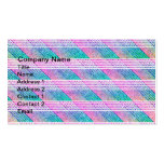 Line Art in Pink and Teal Double-Sided Standard Business Cards (Pack Of 100)