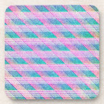 Line Art in Pink and Teal Coasters