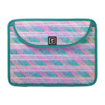 Line Art in Pink and Teal MacBook Pro Sleeves