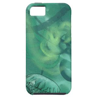 Line Art Jellyfish SeaGreen iPhone SE/5/5s Case