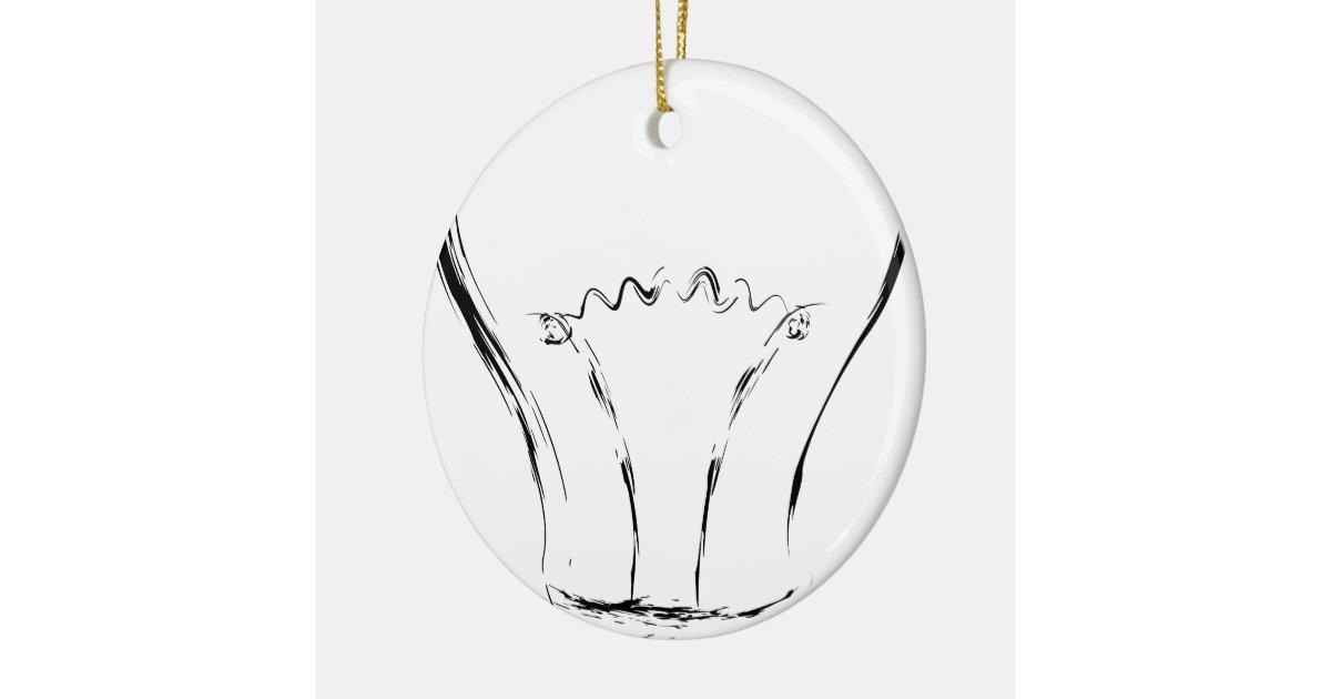 Line Art Light Bulb : Line art of lightbulb christmas ornament zazzle