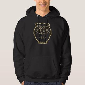 Line Art Owl Hoodie