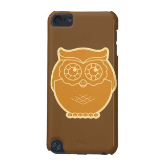 Line Art Owl iPod Touch Case brown background