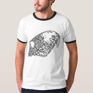 Line Art - Parrot (double yellow head amazon) Tee Shirt