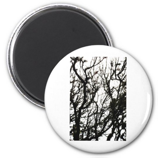 Line Art Pencil Sketch Abstract Design Draw Paper 2 Inch Round Magnet