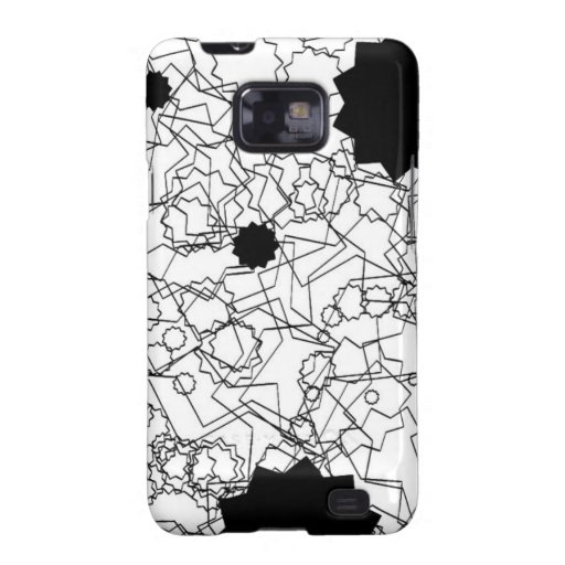 Line Art Pencil Sketch Abstract Design Draw Paper Galaxy SII Cases
