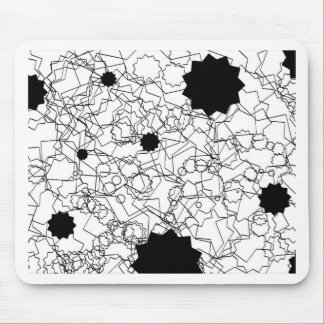 Line Art Pencil Sketch Abstract Design Draw Paper Mouse Pad