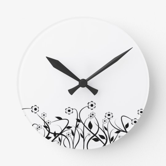 Line Art Pencil Sketch Abstract Design Draw Paper Round Clock