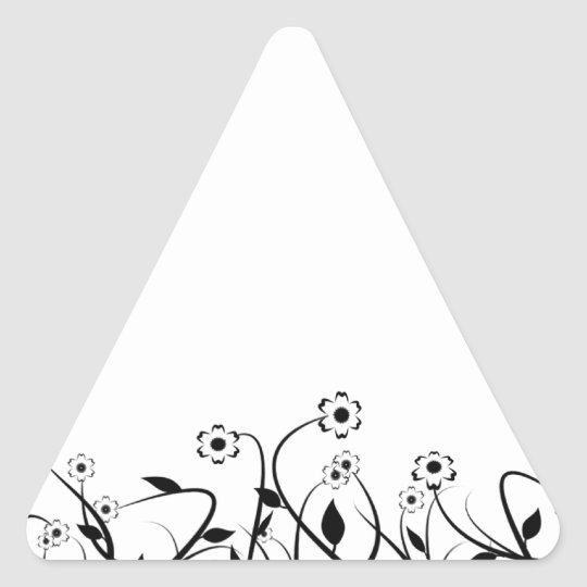 Line Art Pencil Sketch Abstract Design Draw Paper Triangle Sticker