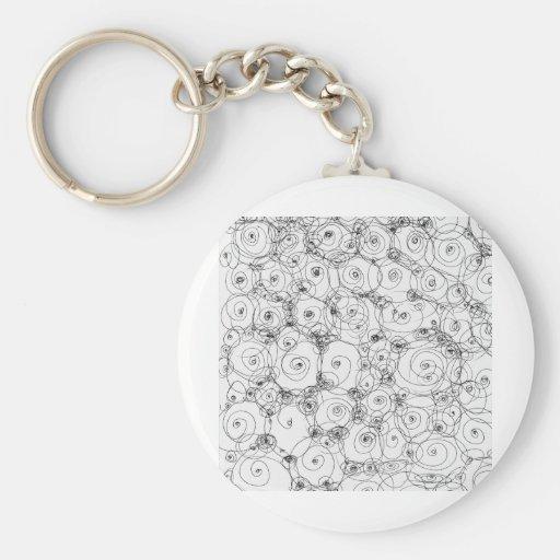 Line Art Pencil Sketch Design Draw Paper Fineart Basic Round Button Keychain