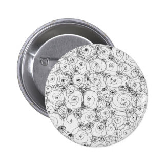 Line Art Pencil Sketch Design Draw Paper Fineart Pinback Buttons