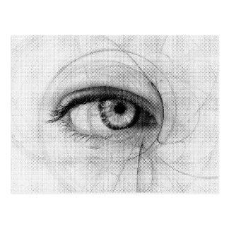 Line Art Pencil Sketch Design Draw Paper Fineart E Postcard