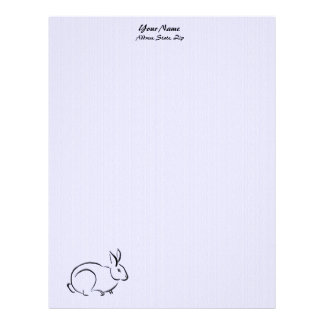 Line art rabbit letterhead