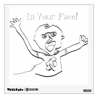Line Art Wall Decal- In Your Face! Wall Decal